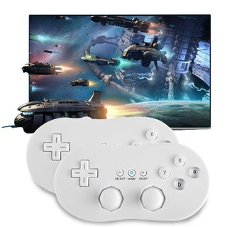 Handle Gaming Controller Pad Joystick For Nintendo WIl Wired Controller (Pack of 2)