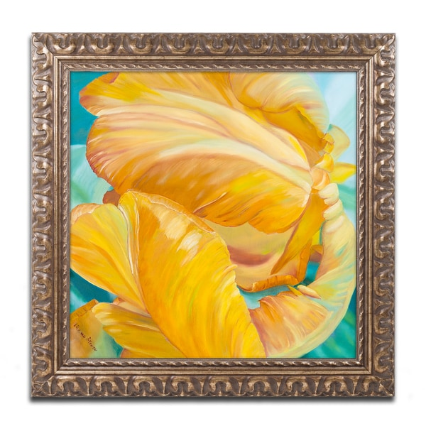 Lily van Bienen 'Tenderness' Ornate Framed Art