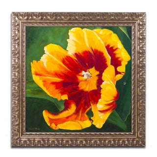 Lily van Bienen 'Sunny Mood' Ornate Framed Art