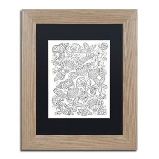 Lisa Powell Braun 'Nautical Shells' Matted Framed Art