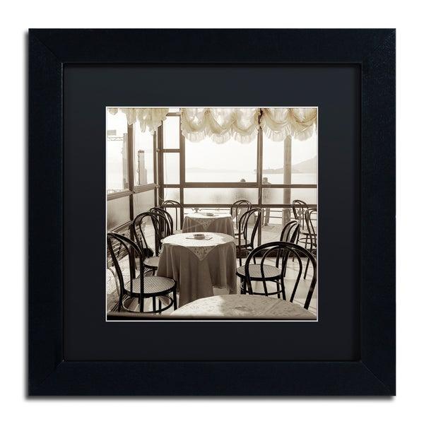Alan Blaustein 'Piedmont Caffe I' Matted Framed Art