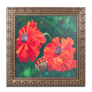 Lily van Bienen 'Red' Ornate Framed Art