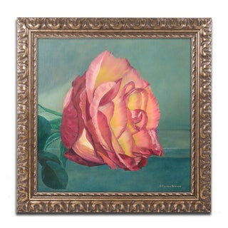 Lily van Bienen 'A Rose is a Rose 2' Ornate Framed Art
