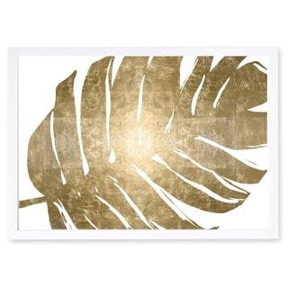 OliverGal 'Tropical Leaves I Gold Metallic' Metallic Art