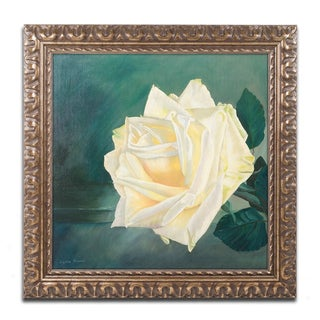 Lily van Bienen 'A Rose is a Rose 1' Ornate Framed Art