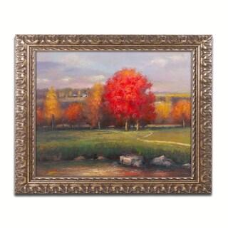 Daniel Moises 'Sunset' Ornate Framed Art