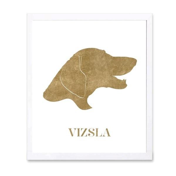 OliverGal 'Viszla' Metallic Art