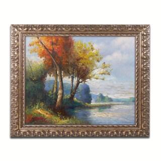Daniel Moises 'Corot Tribute' Ornate Framed Art