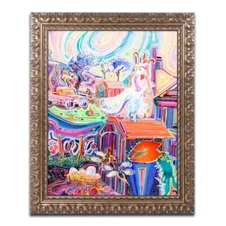 Josh Byer 'Poppycock' Ornate Framed Art