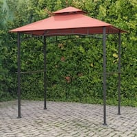 Grill Gazebo with Terra Cotta Canopy