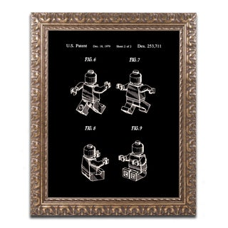 Claire Doherty 'Lego Man Patent 1979 Page 2 Black' Ornate Framed Art