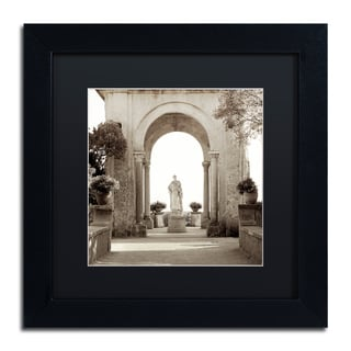 Alan Blaustein 'Giardini Italiano V' Matted Framed Art