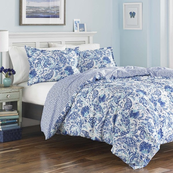 Poppy & Fritz Brooke Full/ Queen Size Duvet Cover Set (As Is Item). Opens flyout.