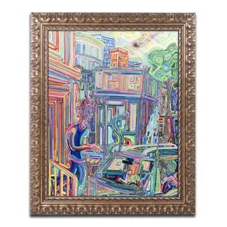 Josh Byer 'Distractions' Ornate Framed Art