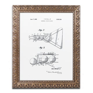 Claire Doherty 'Practice Device Patent Part 2 White' Ornate Framed Art