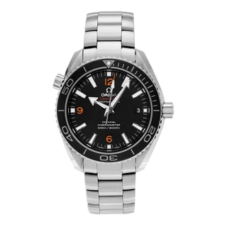 Omega Men's 'Seamaster' 232.30.42.21.01.003 Stainless Steel Black Dial Link Bracelet Watch
