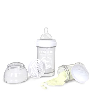 Twistshake White 6-ounce Anti-Colic Baby Bottle