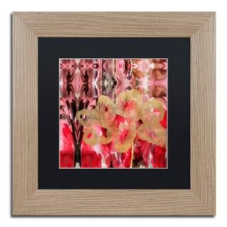 Lisa Powell Braun 'Daisy Abstract' Matted Framed Art