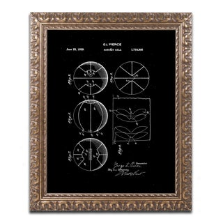Claire Doherty 'Basketball Patent 1929 Black' Ornate Framed Art