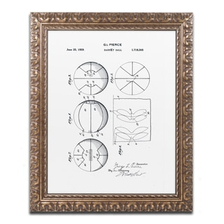 Claire Doherty 'Basketball Patent 1929 White' Ornate Framed Art