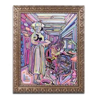 Josh Byer 'Lab' Ornate Framed Art