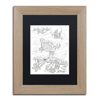 Lisa Powell Braun 'Crab And Lobster' Matted Framed Art