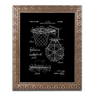 Claire Doherty 'Basketball Hoop Patent 1965 Black' Ornate Framed Art