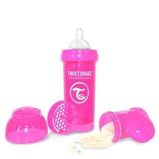 Twistshake Pink 8-ounce Anti-Colic Baby Bottle