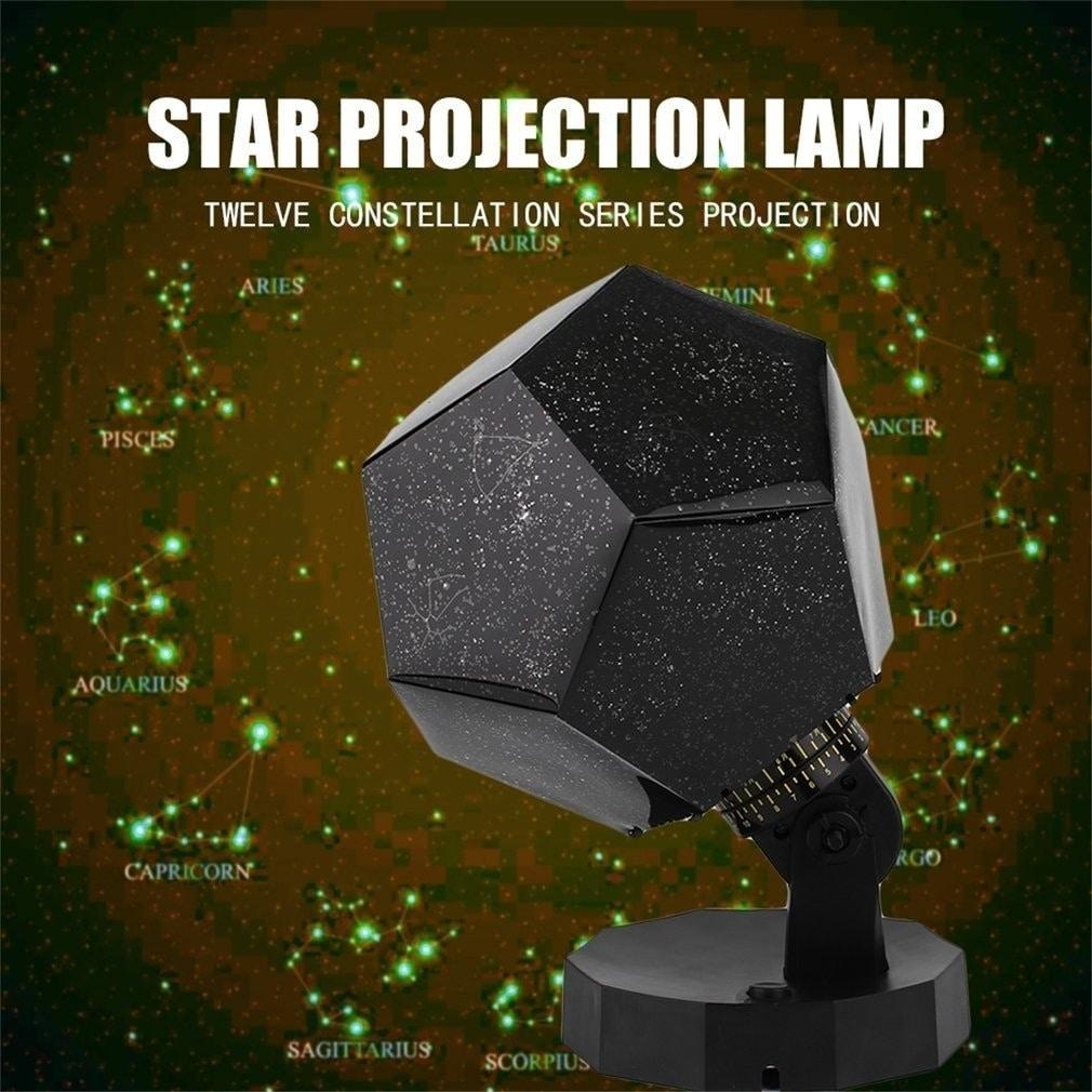 Star Sky Projection Night (Black) Light Lamp (Lamp)