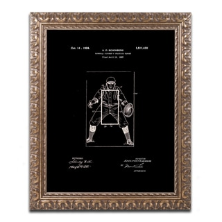 Claire Doherty 'Practice Target Patent 1924 Black' Ornate Framed Art