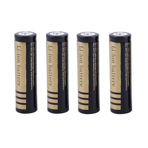 Professional 18650 3.7V 4000MHA Durable Rechargeable Li-Ion Battery (Box of 4)