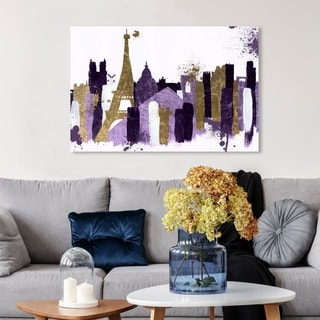 Oliver Gal 'Glamorous Paris Plum' Abstract Wall Art Canvas Print - Purple, Gold