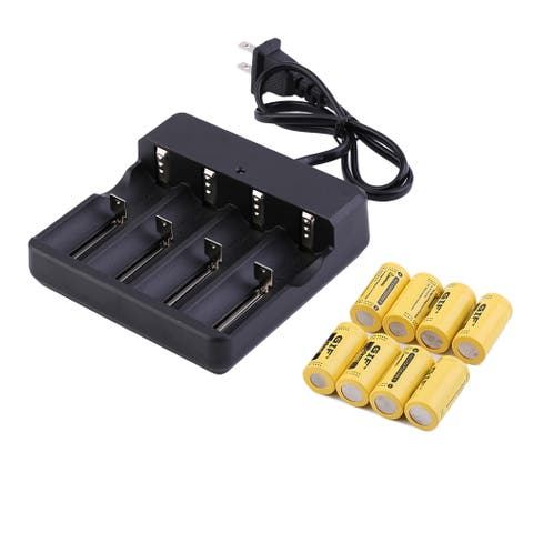 3.7V CR123A 16340 2800mAh Yellow GTL Rechargeable Li-Ion Battery (Pack of 8)