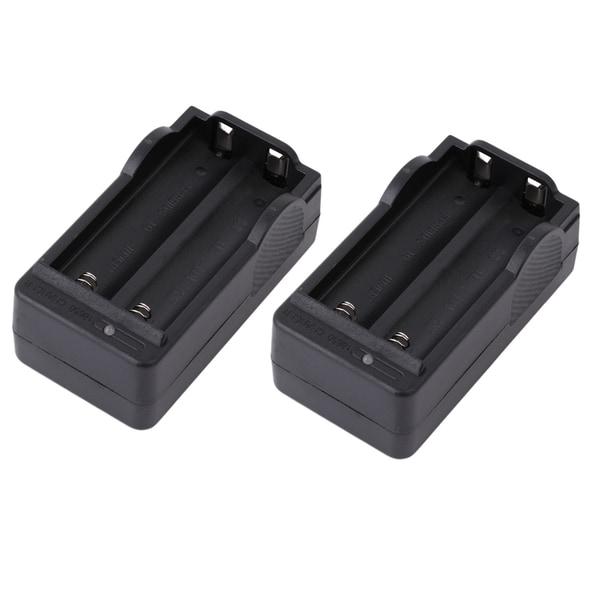 5800mah 18650 Battery 3.7V Rechargeable Li-Ion & 2PCS Dual Smart Charger (Box of 4)