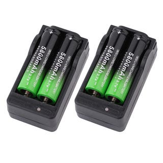 5800mah 18650 Battery 3.7V Rechargeable Li-Ion & 2PCS Dual Smart Charger (Box of 4)|https://ak1.ostkcdn.com/images/products/15263703/P21734723.jpg?impolicy=medium