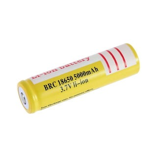 18650 3.7V 5000mAh Li-ion Rechargeable Li-ion Battery for Led Flashlight - YELLOW