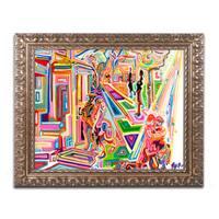 Josh Byer 'Street Light' Ornate Framed Art