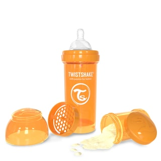 Twistshake Orange 8-ounce Anti-Colic Baby Bottle