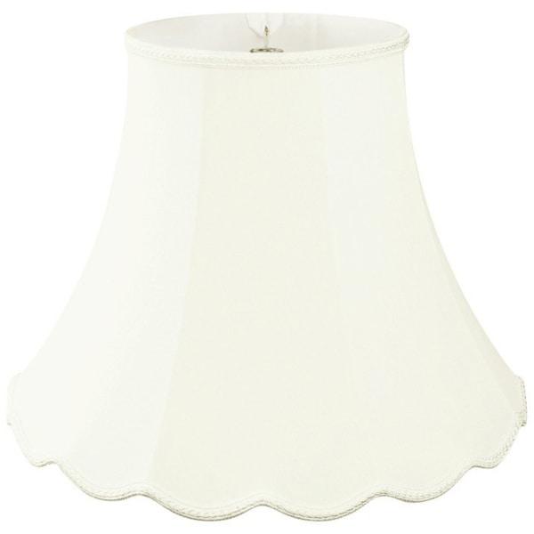 Royal Designs Scalloped Bell Designer Lamp Shade, White, 5 x 10 x 8.25