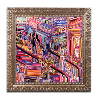 Josh Byer 'Escalator' Ornate Framed Art