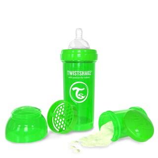 Twistshake Green 8-ounce Anti-Colic Baby Bottle