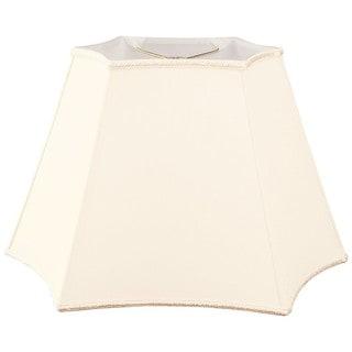 Royal Designs Rectangle Curved Inverted Corner Designer Lamp Shade, Eggshell, (10 x 6) x (12 x 18) x 12