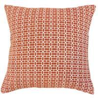 Tenauri Geometric 22-inch Down Feather Throw Pillow Coral