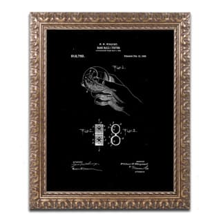 Claire Doherty 'Baseball Curver Patent 1909 Black' Ornate Framed Art|https://ak1.ostkcdn.com/images/products/15263798/P21735407.jpg?impolicy=medium