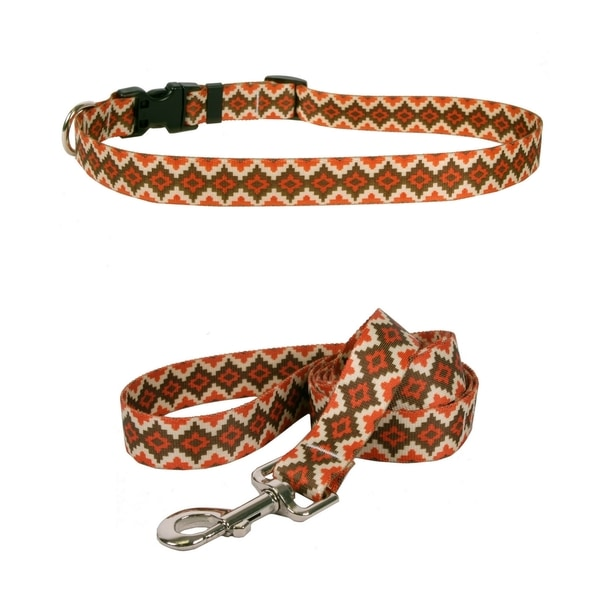 Yellow Dog Design Aztec Sand Standard Collar & Lead Set