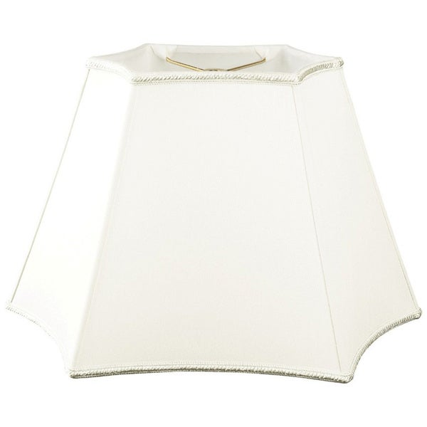 Royal Designs White Rectangular Curved Inverted Corner Lampshade