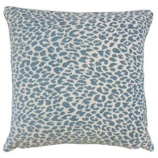 """Pesach Animal Print 22"""" x 22"""" Down Feather Throw Pillow Delft"""