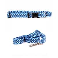 Yellow Dog Design Aztec Blue Standard Collar & Lead Set