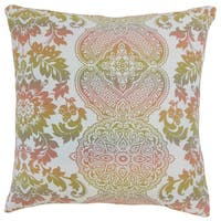 Orma Damask 22-inch Down Feather Throw Pillow Primavera