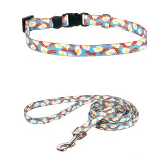 Yellow Dog Design Bacon & Eggs Standard Collar & Lead Sse